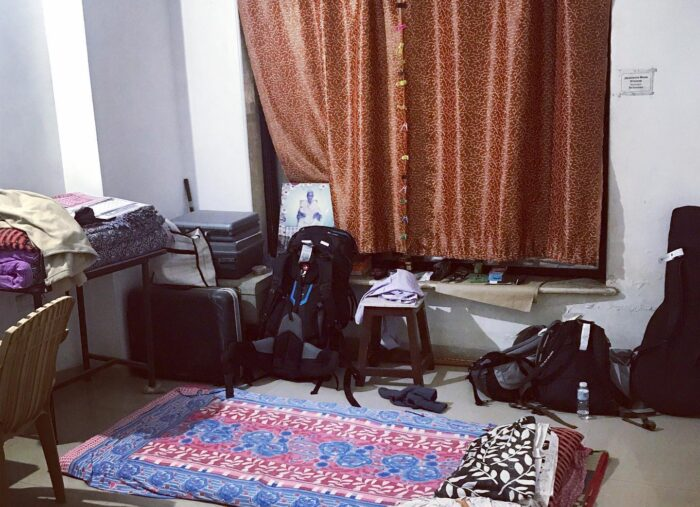 Erstes Bett in Indien